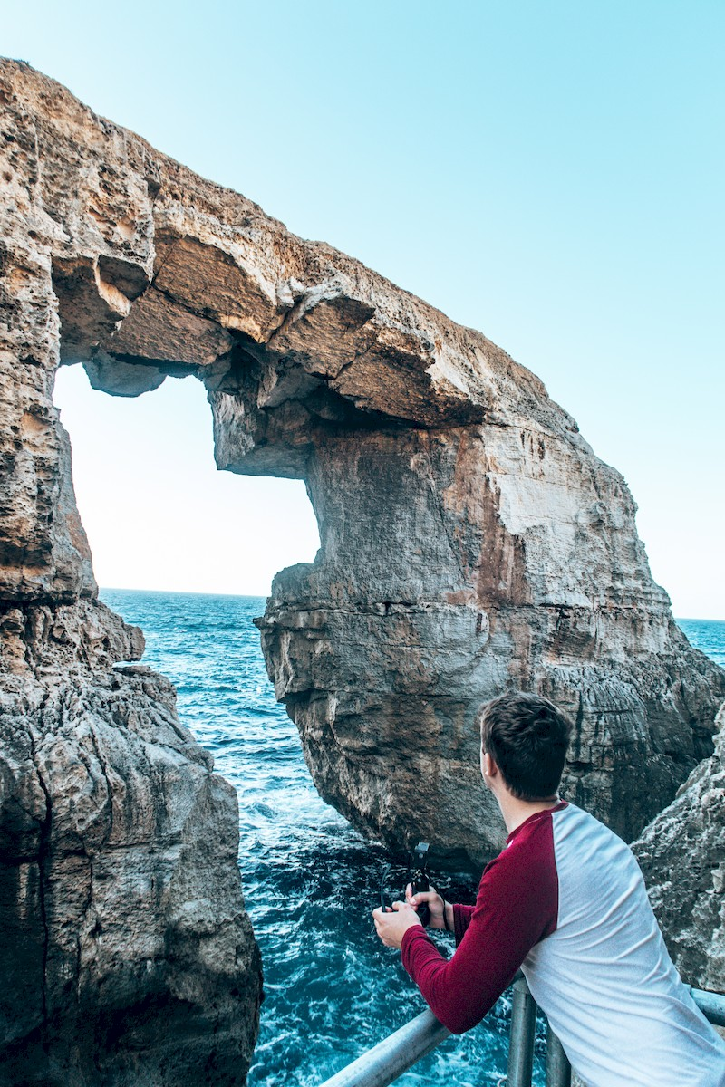 views from Wied il-Mielah Sea Arch