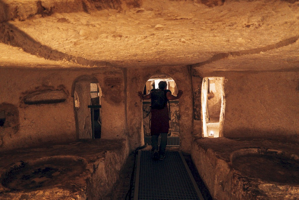 inside the  St Paul's Catacombs
