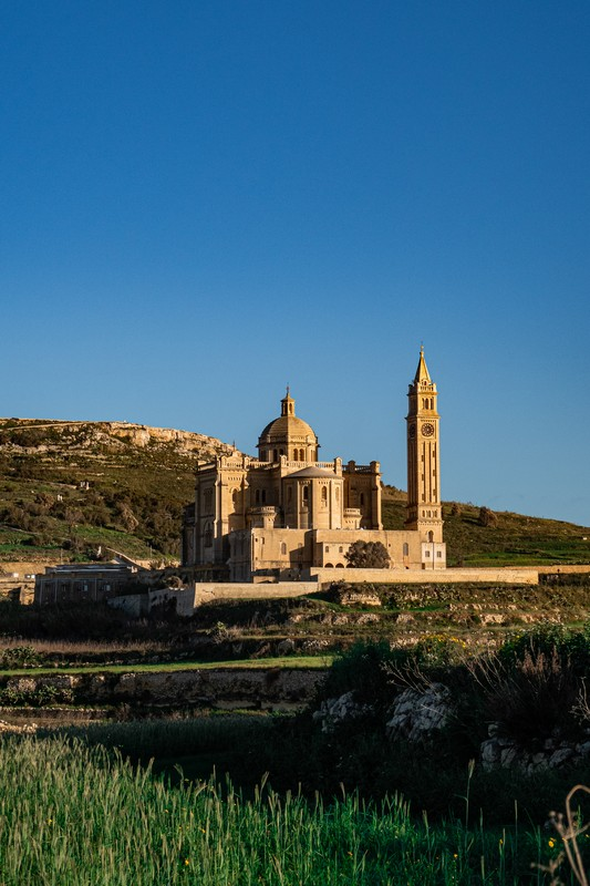 beautiful view of cathederal in gozo