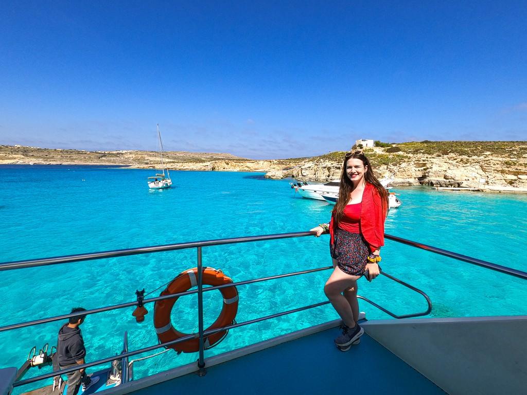 blue lagoon in comino island malta