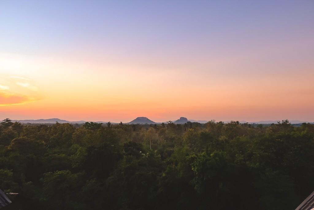 sunrise over sigiriya rock