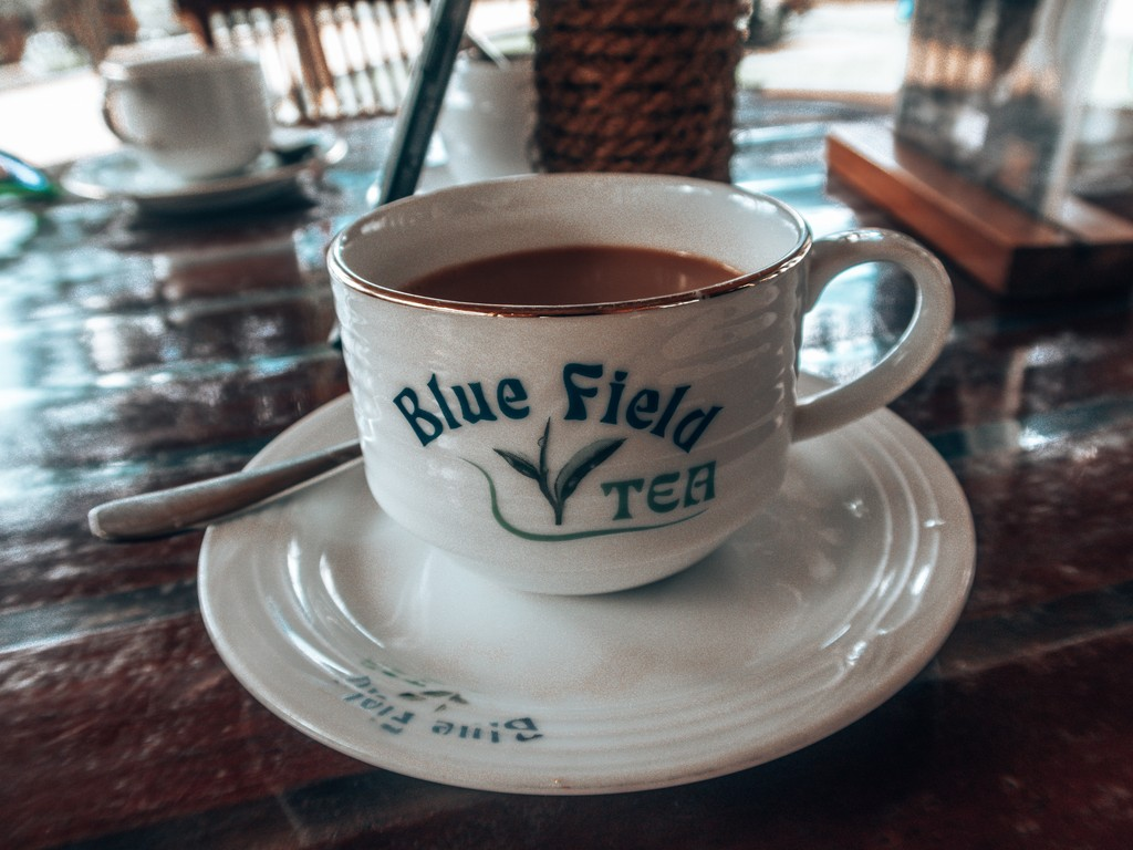drinking tea in ella