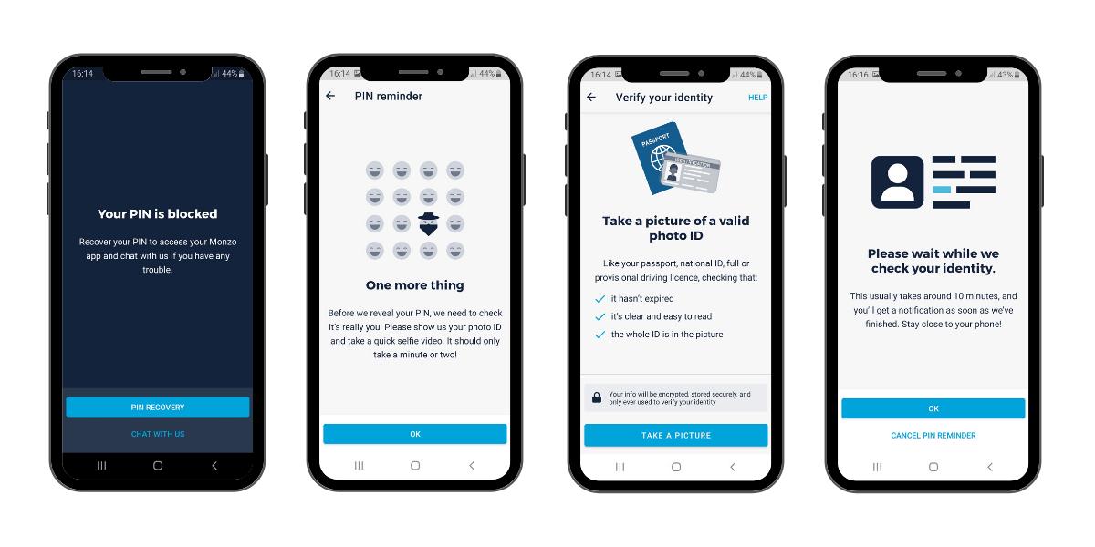 Monzo identity verification process