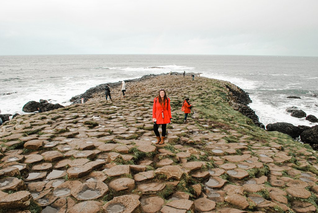 cazzy at giants causeway
