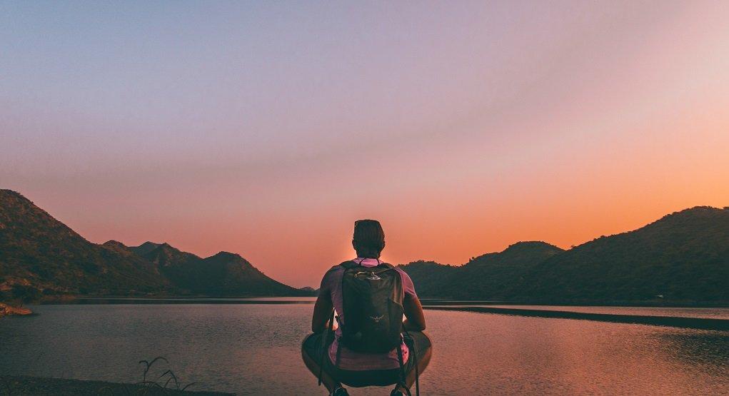 India lake at sunset