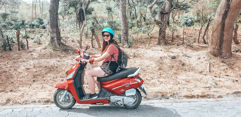 riding a moped in nicaragua