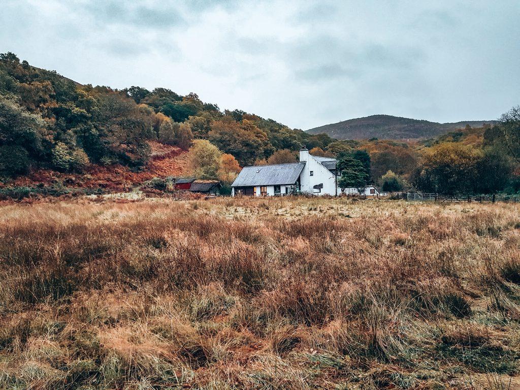 old huts at Ben Lomond