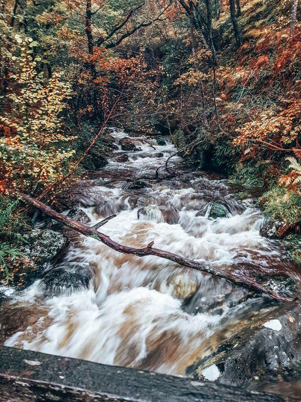 waterfall at ben lomond