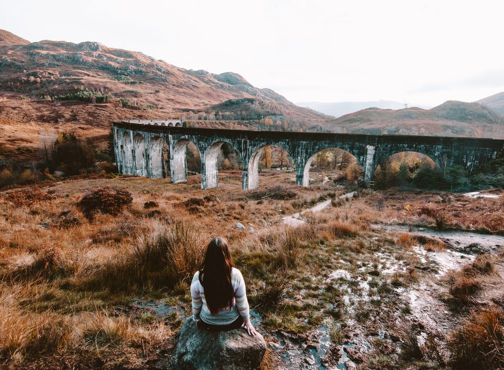 visiting the Glenfinnan Viaduct