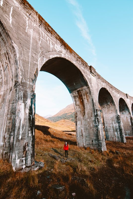 visiting the glenfinnan viaduct in scotland