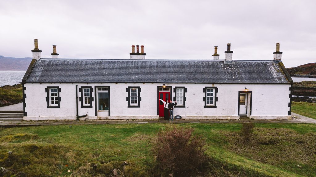 lighthouse cottage in scotland