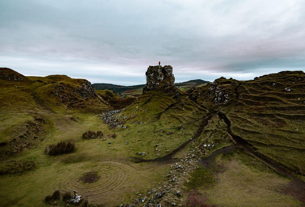 the fairy glen on isle of skye