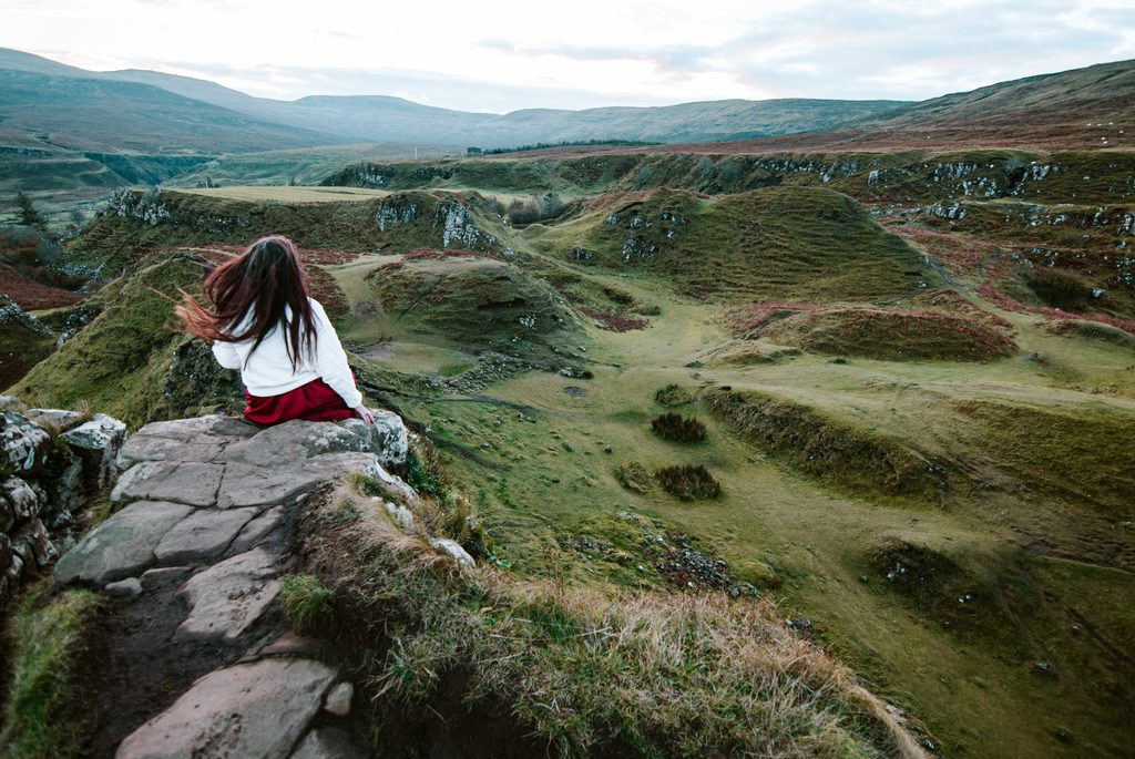 beautiful fairy glen on isle of skye