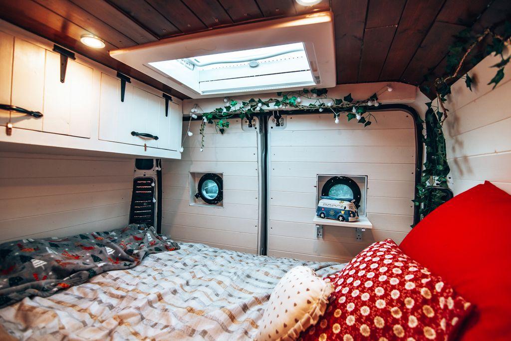 floating bed camper coversion