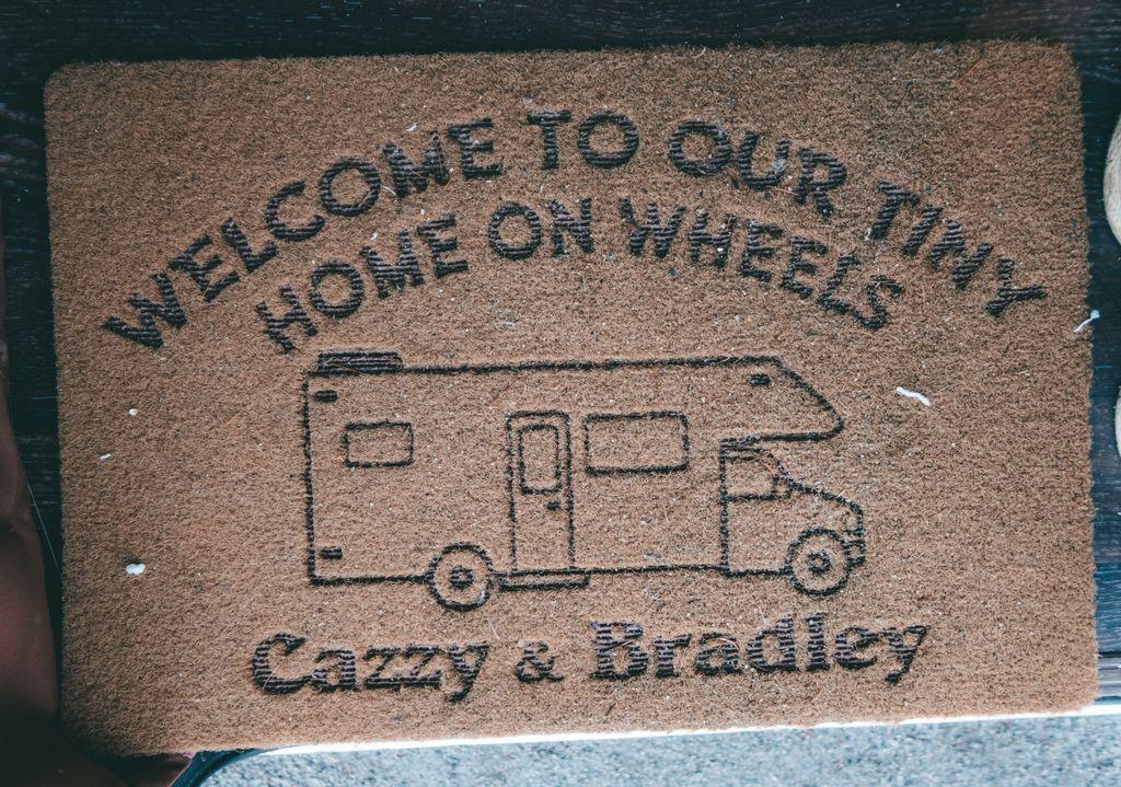 campervan custom welcome matt