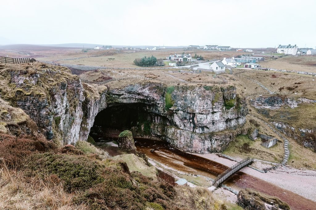 visiting smoo cave on nc500