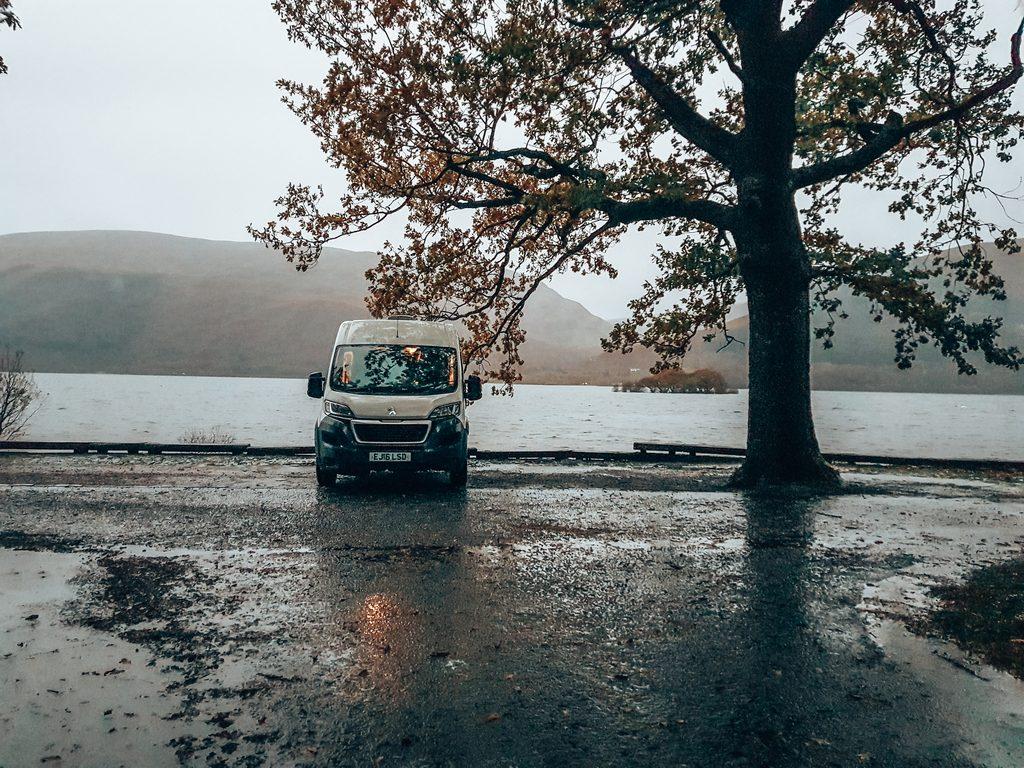 ben lomond car park wild camping spot
