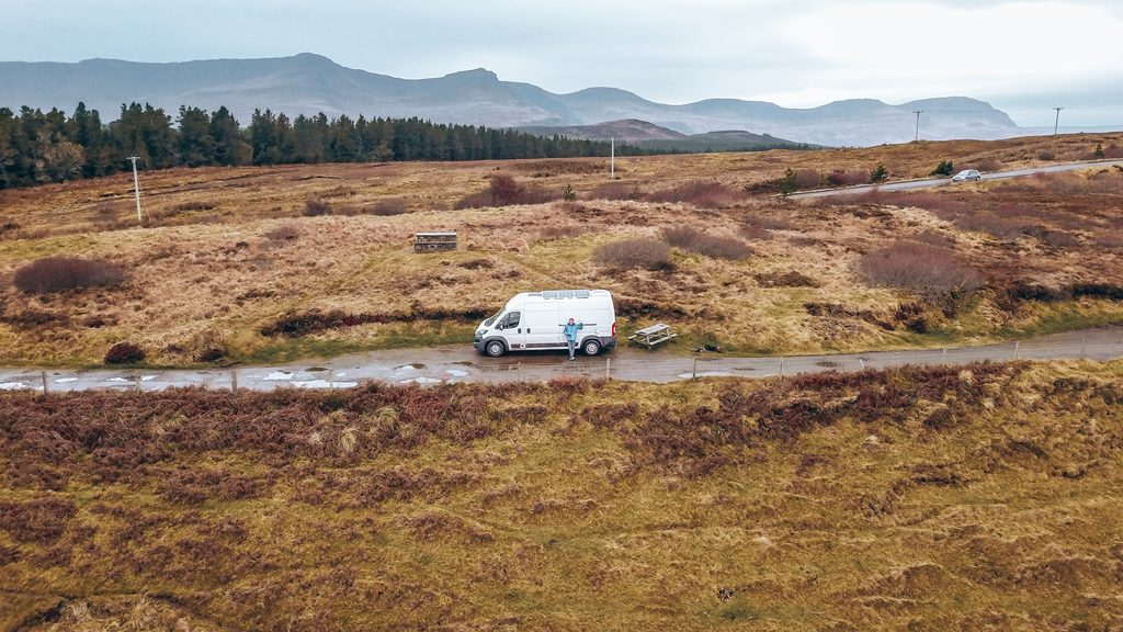 wild camping for motorhomes in scotland