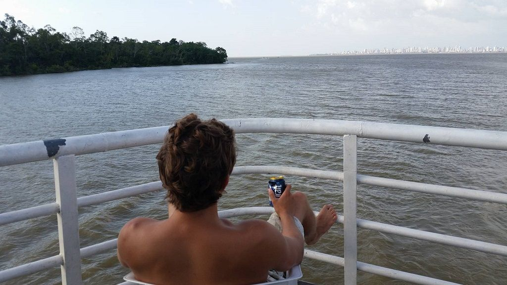 relaxing on Amazon riverboat cruise