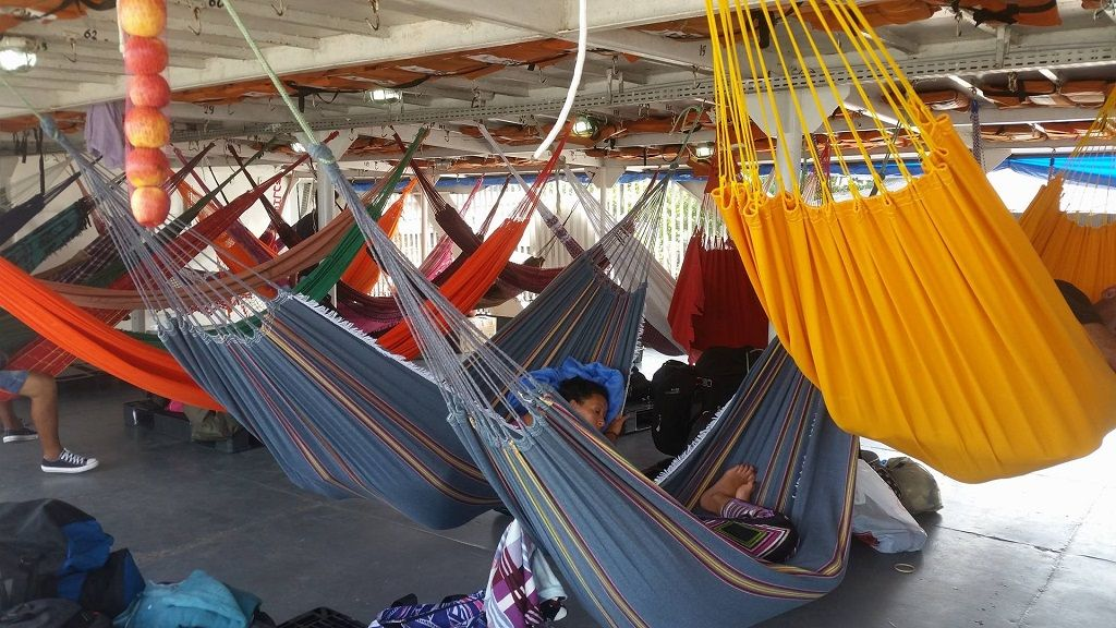 Amazon riverboat cruise hammocks