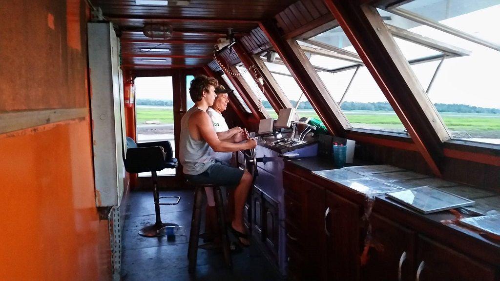 sailing riverboat on Amazon