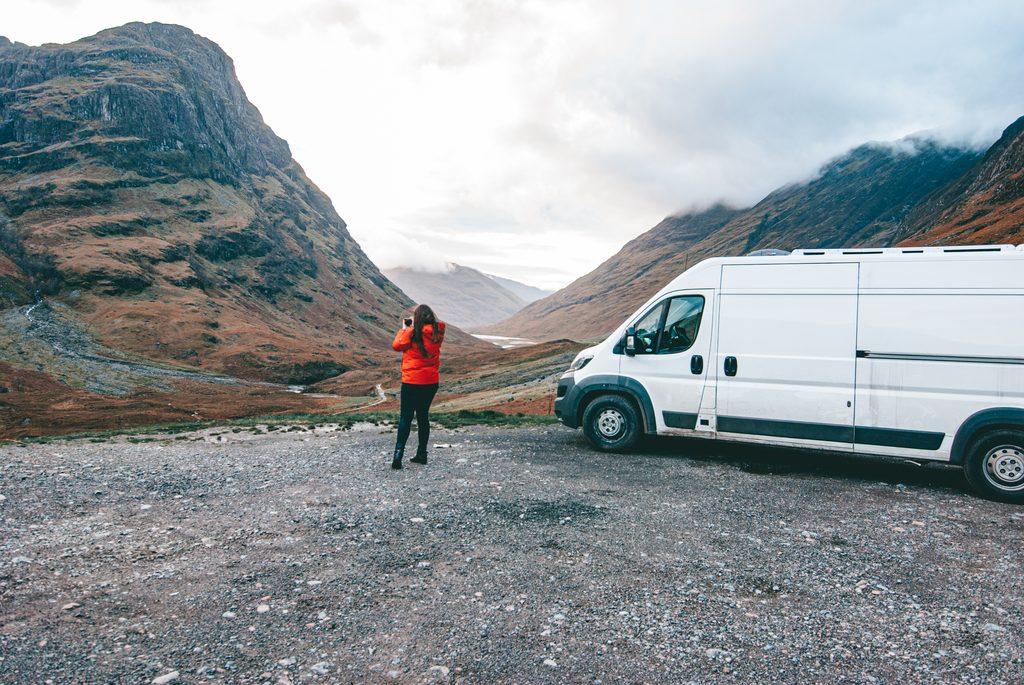 driving around scotland in campervan