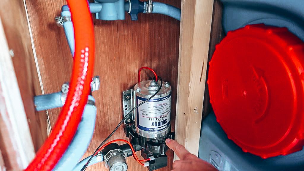 water pump in van