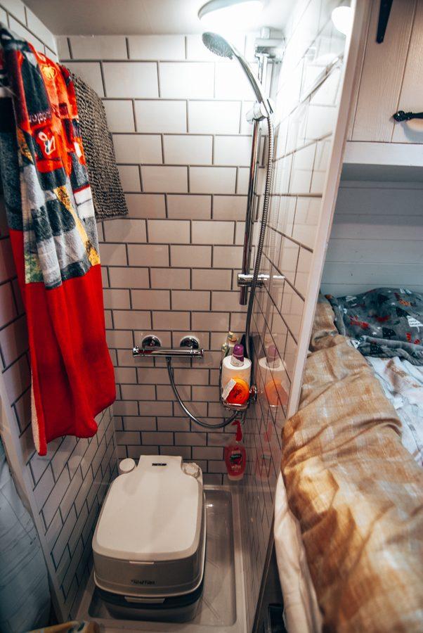 campervan shower