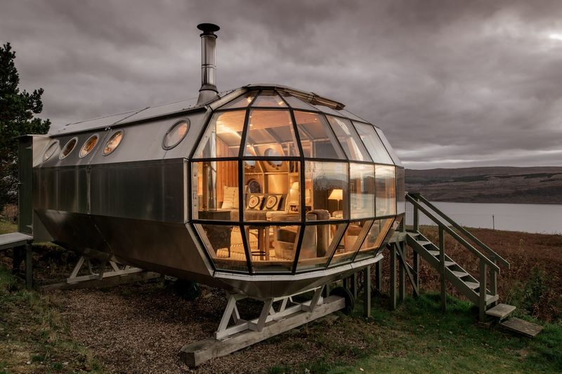 Unique and Secluded Airship Airbnb in Scotland