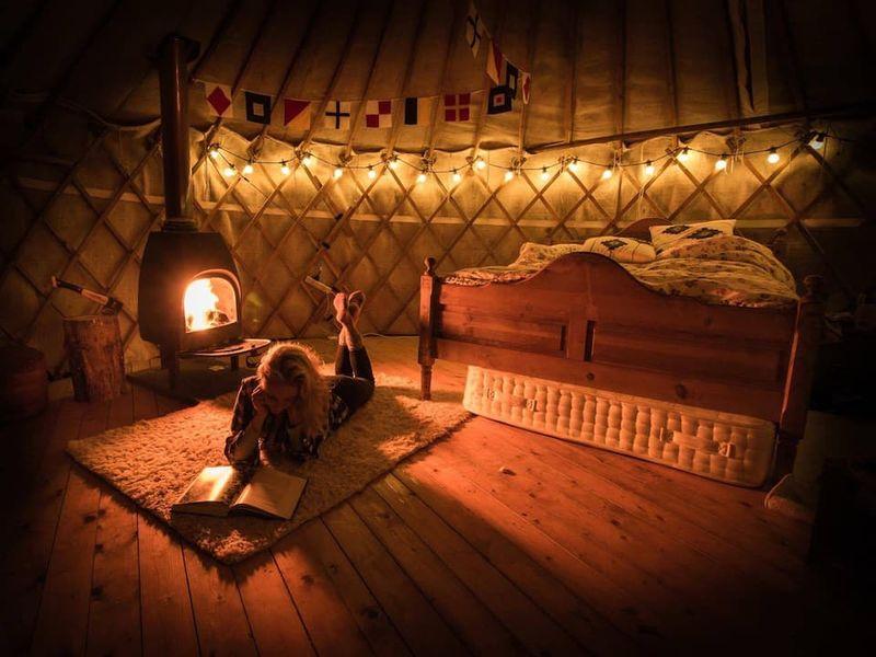 Tobermory Yurt on cheese farm