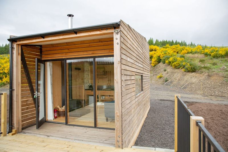 Rural luxury Cabin with spectacular views in Scotland