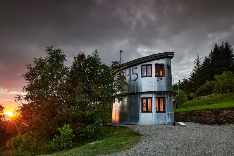 Pilot House a Unique Aluminium tiny home Highlands Scotland