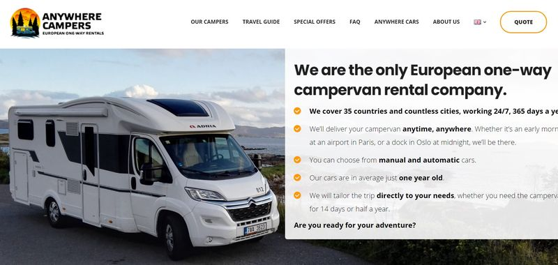 Anywhere Campers Ireland rental