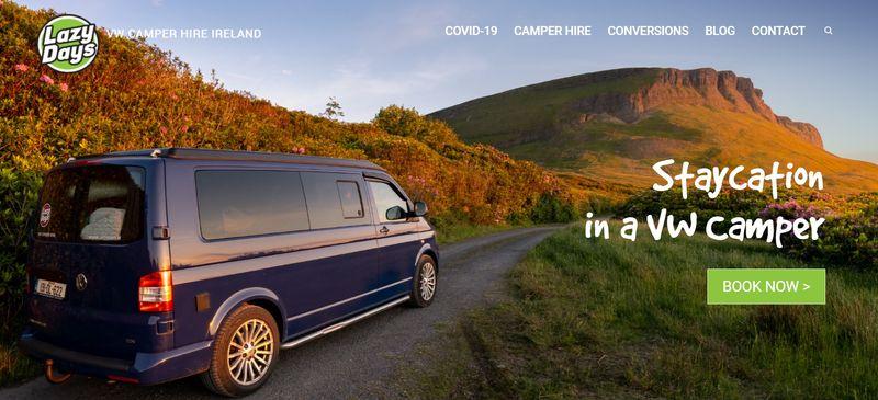 Lazy Days VW campervan hire Ireland
