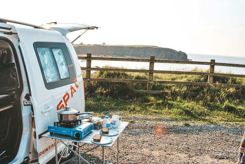 campervan kitchen outdoor
