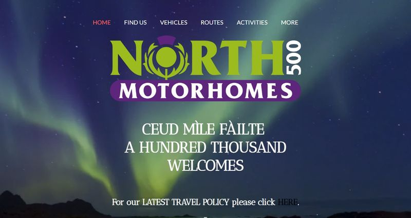 campervan rental North Coast 500