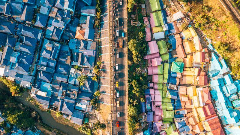 Blue village vs rainbow village malang