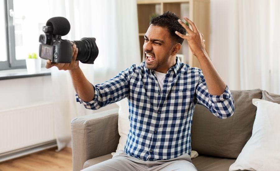 blogging with camera