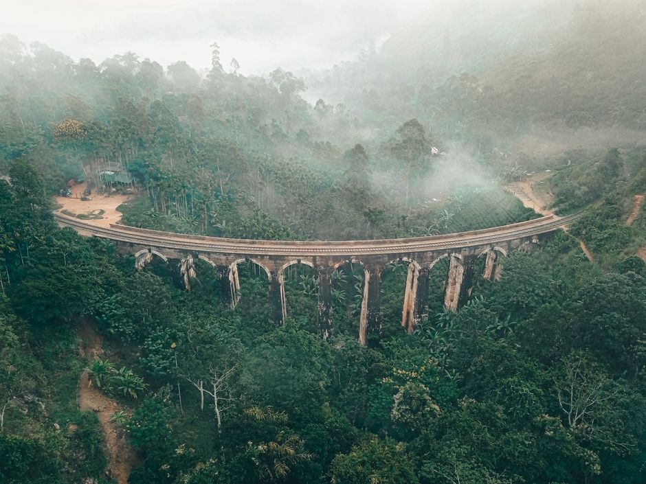 Nine Arch Bridge by drone