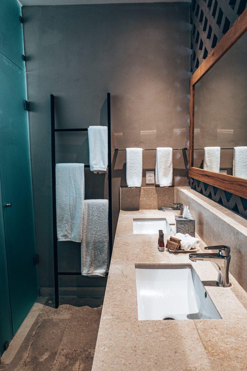 bathroom at alea tulum