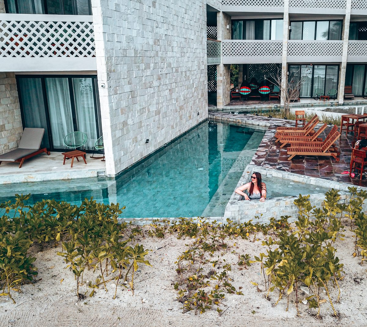 swimming pool at alea tulum