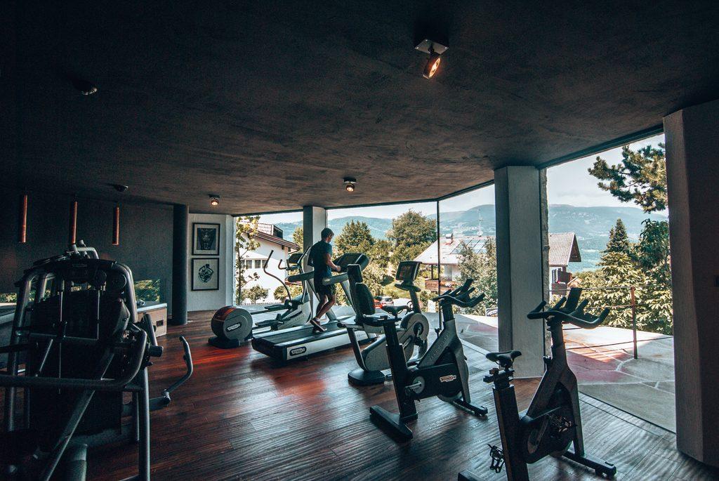 gym at the romantik hotel turm