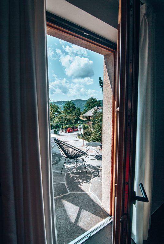 balcony area in rooms at romantik hotel turm