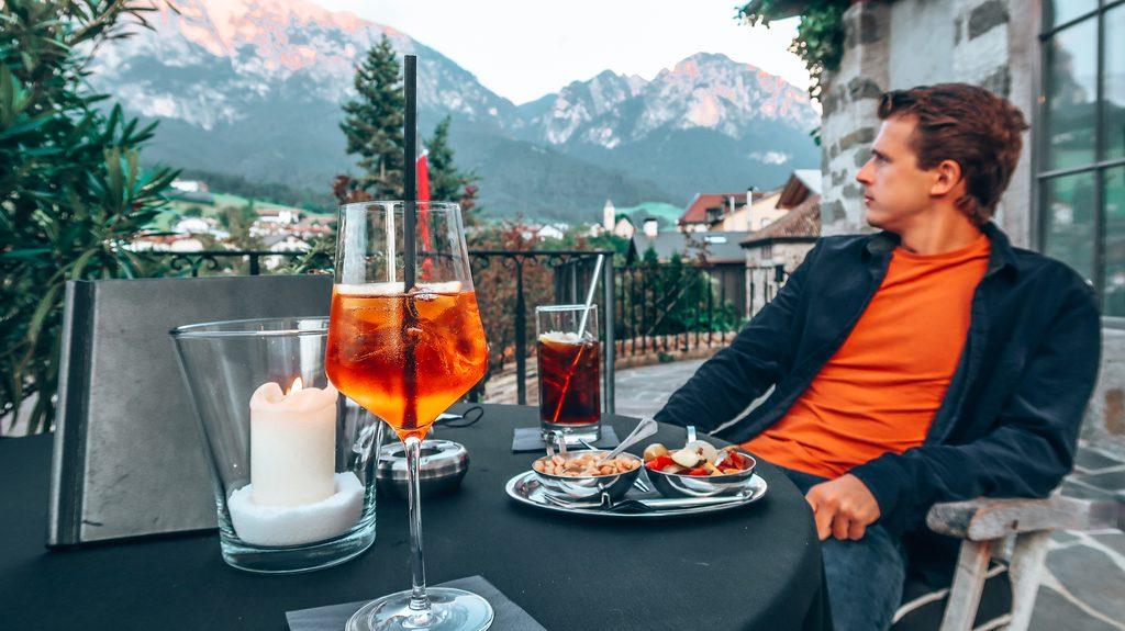 dining at the romantik hotel turm