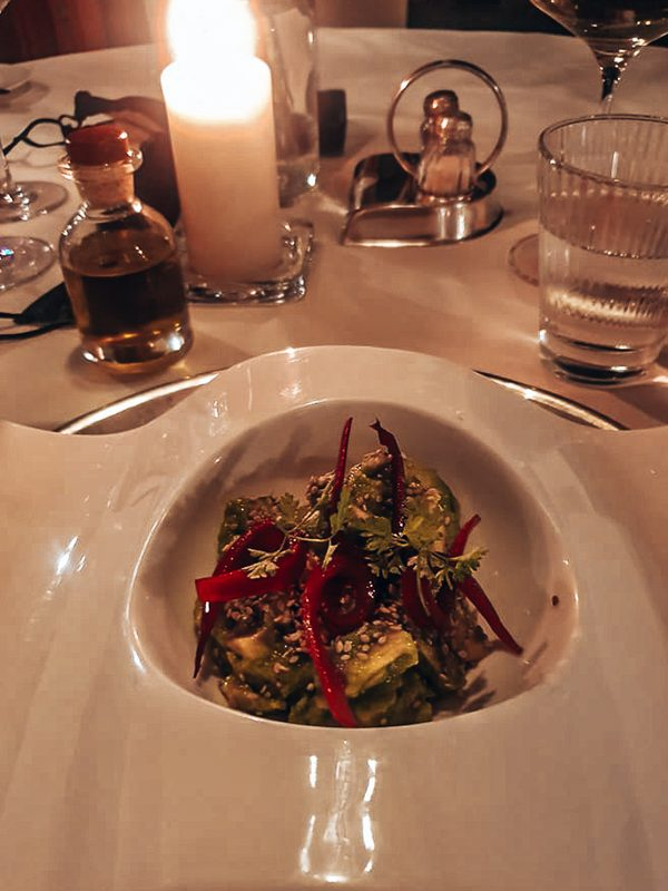vegetarian menu at the romantik hotel turm