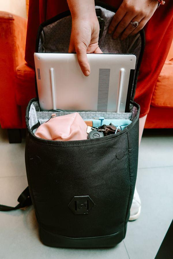Hustle backpack laptop storage
