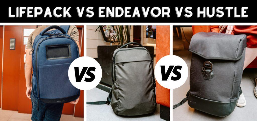 Lifepack vs Endeavor vs Hustle
