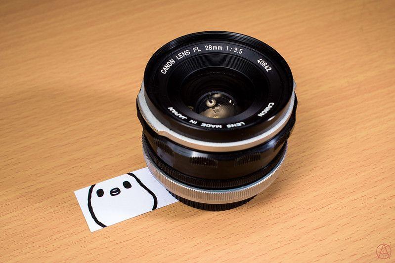 Canon 28mm f/3.5 lens