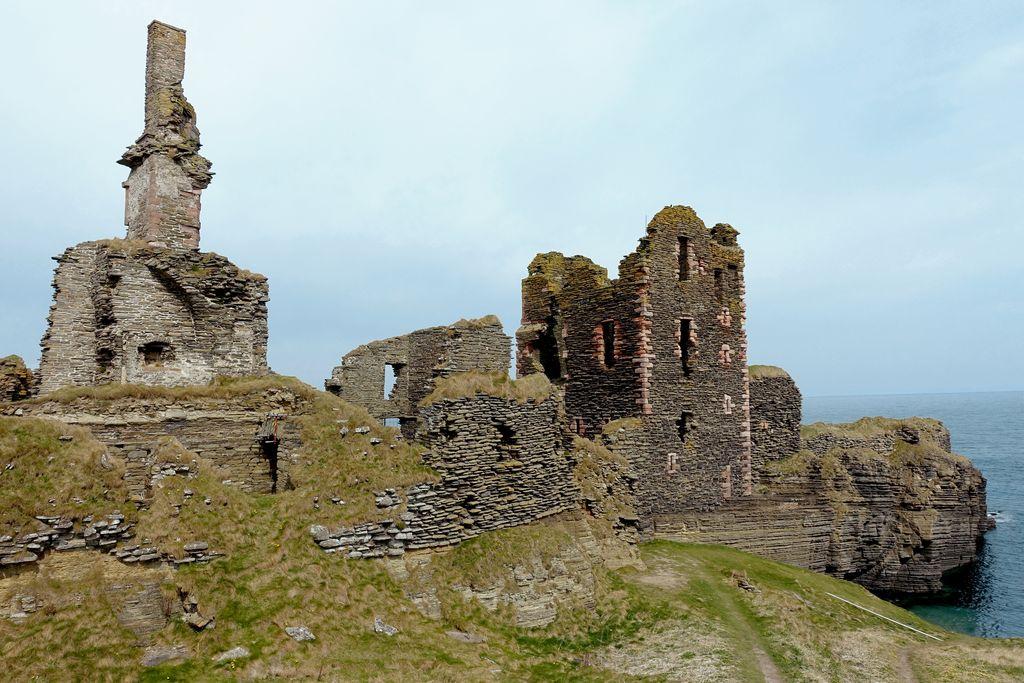 Castle Sinclair remains, Wick, Scotland