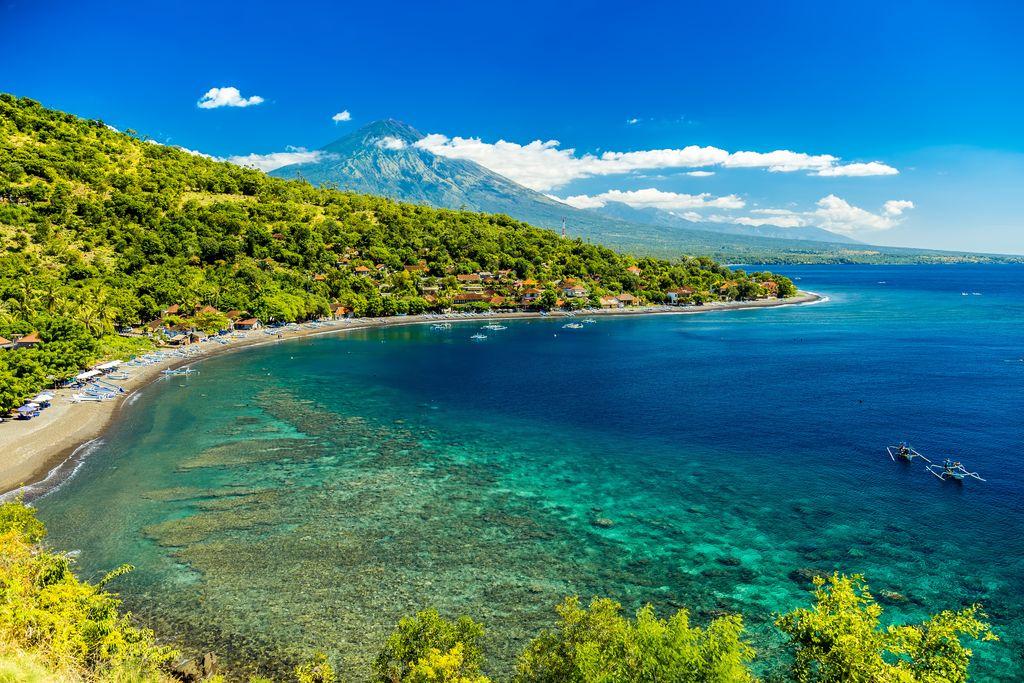 Indonesia, Bali. Azure beach Amed